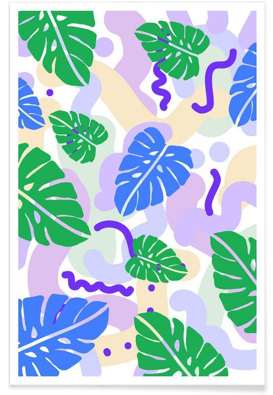 Monstera Pastel Poster