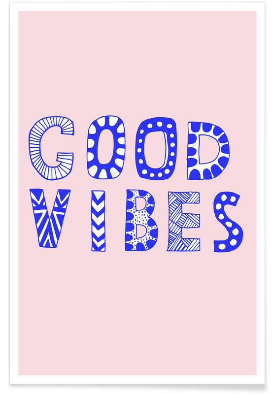 Good Vibes Pink Poster