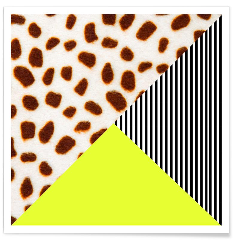 Cheetah Stripe  Neon Poster