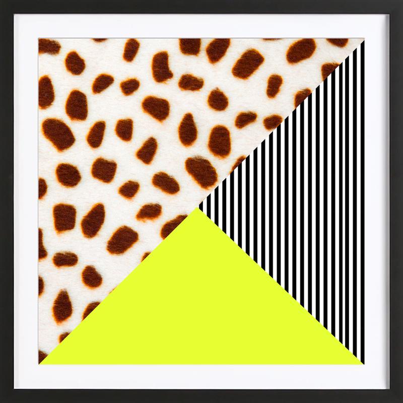 Cheetah Stripe  Neon Premium Poster gerahmt | Dekoration > Bilder und Rahmen > Poster | Mehrfarbig