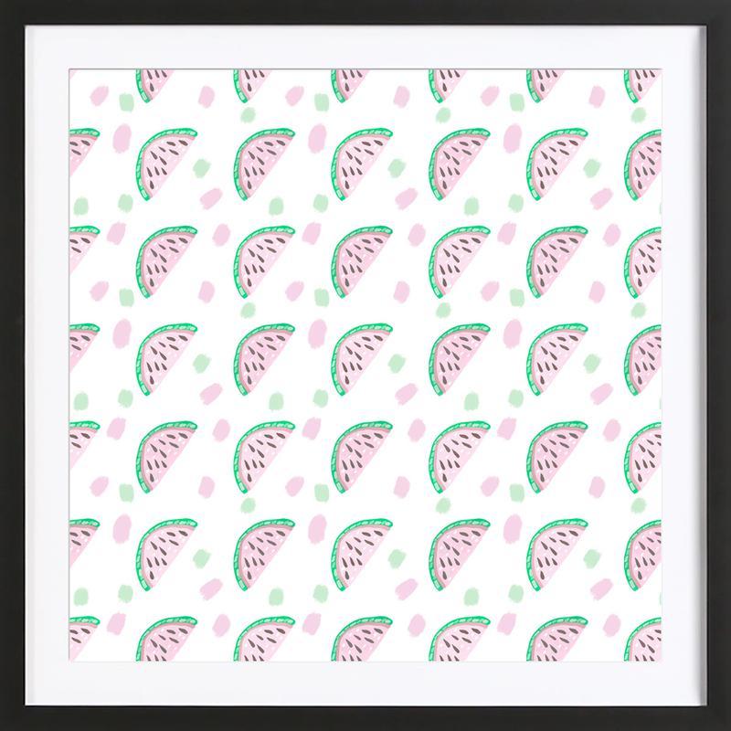 Watermelon Pattern ingelijste print
