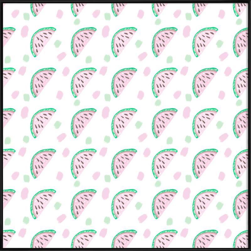 Watermelon Pattern ingelijste poster