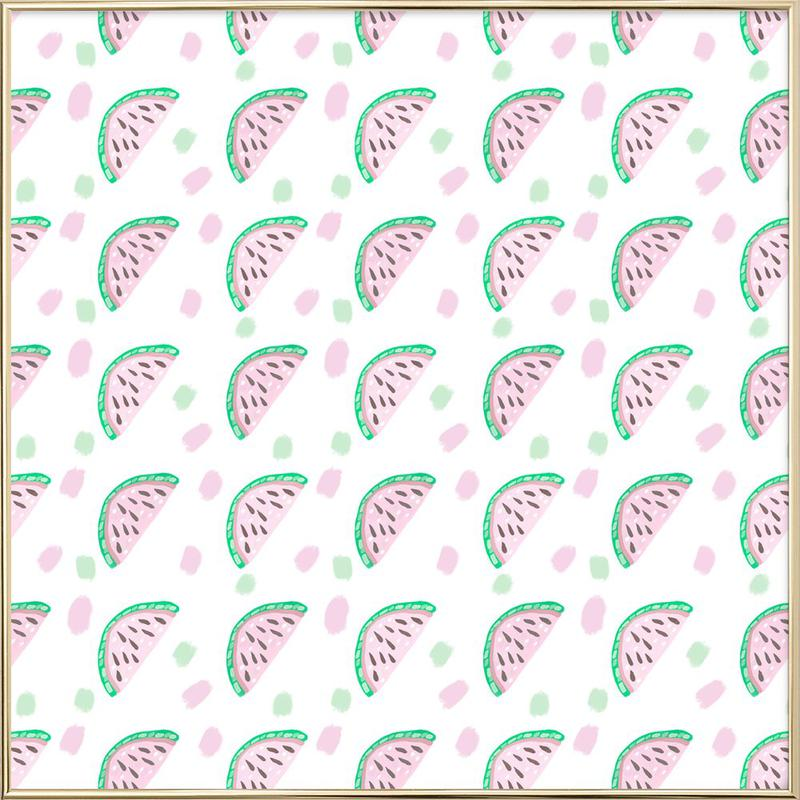 Watermelon Pattern poster in aluminium lijst