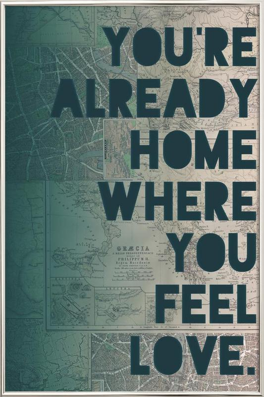 Home -Poster im Alurahmen