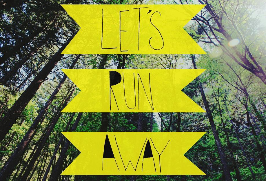 Let's Run Away - to the forest -Acrylglasbild