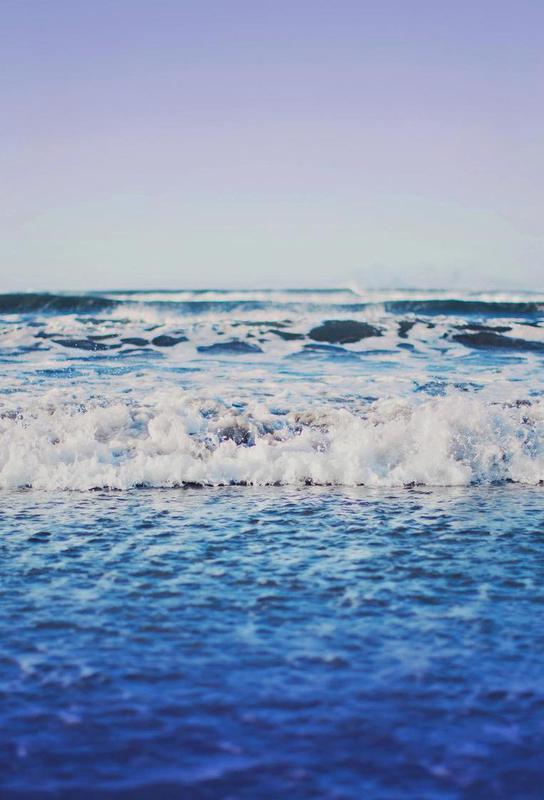 Indigo Waves Aluminium Print