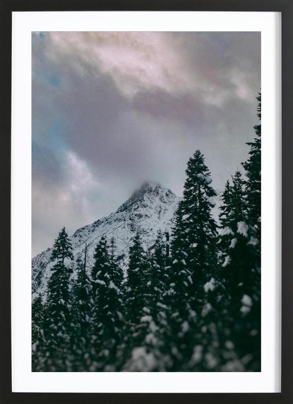 Cascade Mountain Premium Poster gerahmt   Dekoration > Bilder und Rahmen > Poster