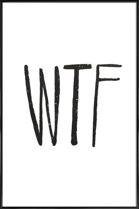 WTF -Bild mit Kunststoffrahmen