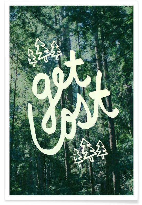Get Lost Forest Poster
