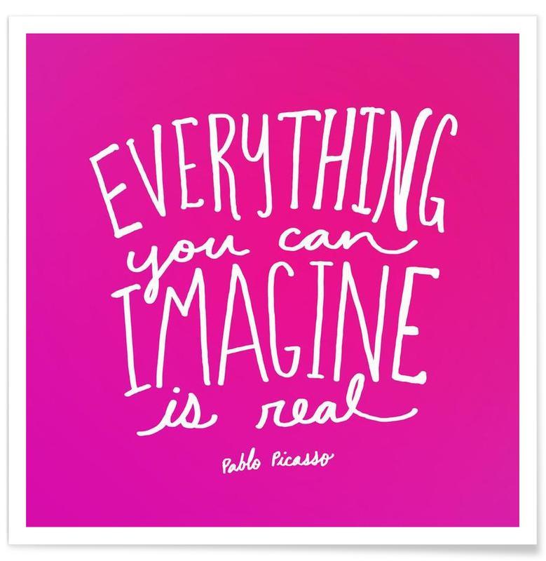 Imagine - Pink Poster