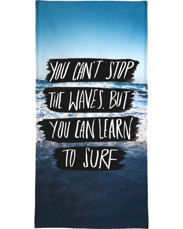 Learn to Surf serviette de bain