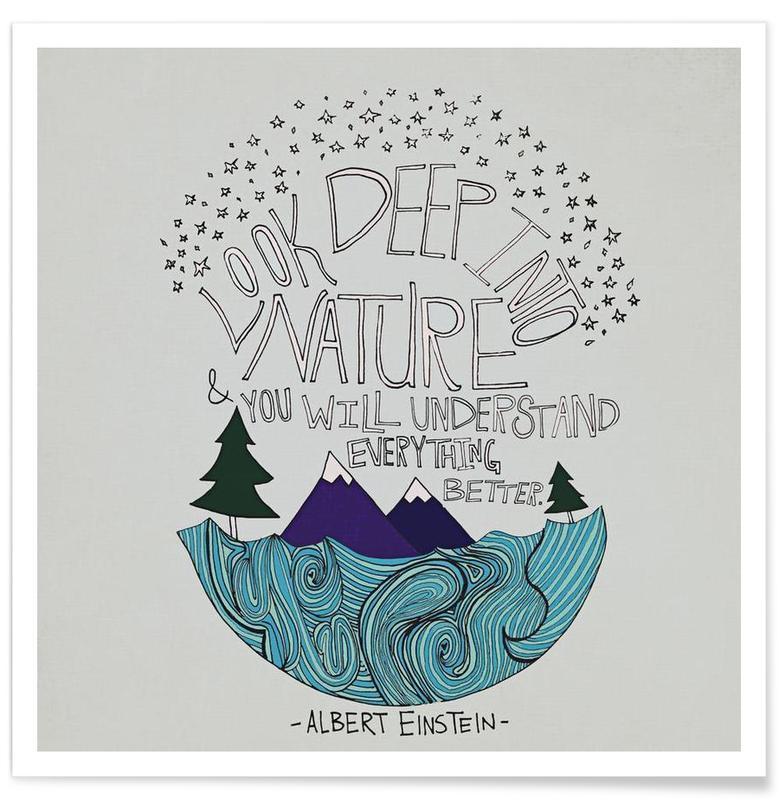 Einstein Nature poster