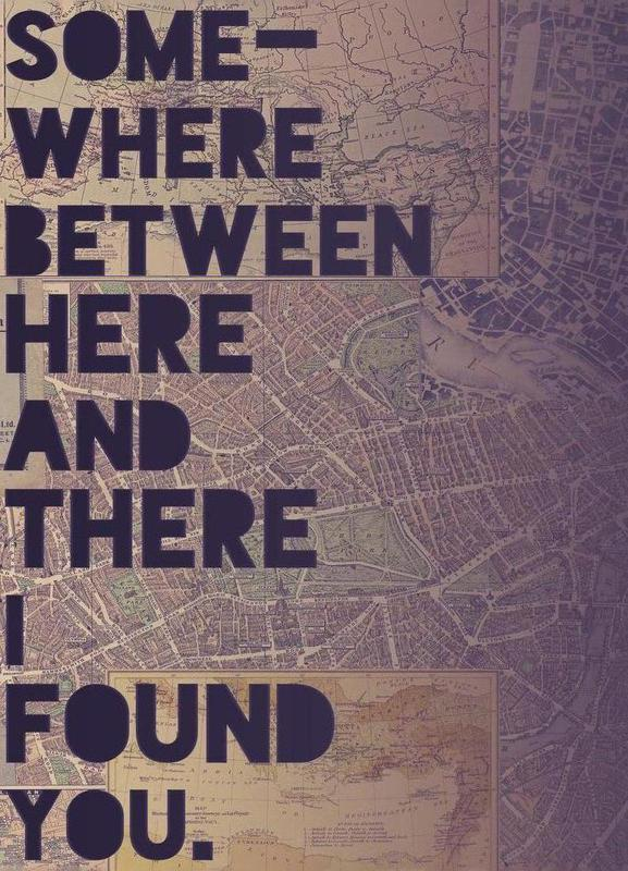 Here and There -Leinwandbild