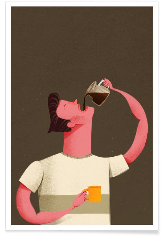 Coffee Drinker Premium Poster