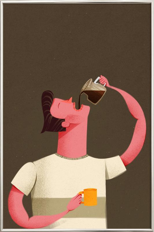 Coffee Drinker Poster im Alurahmen