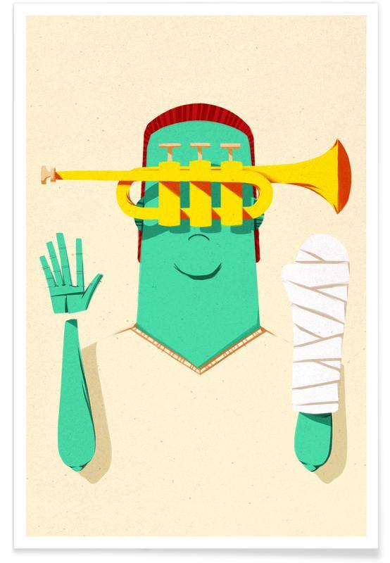 Trumpeter Broken Arm -Poster