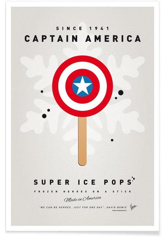 My Superhero Ice Pop - Captain America -Poster
