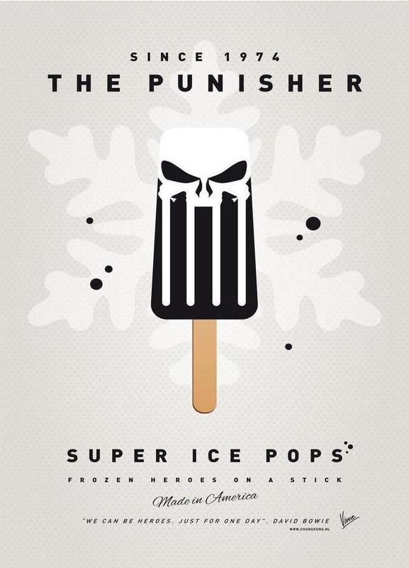 My Superhero Ice Pop - The Punisher canvas doek
