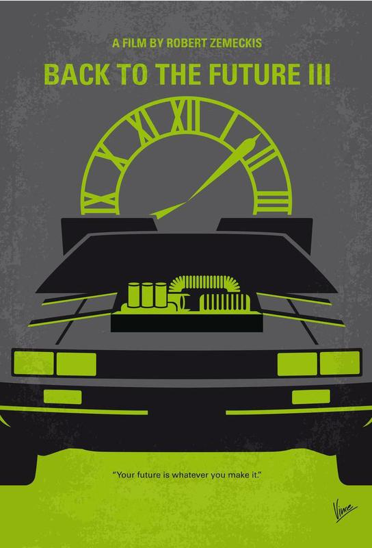 Back to the Future III acrylglas print