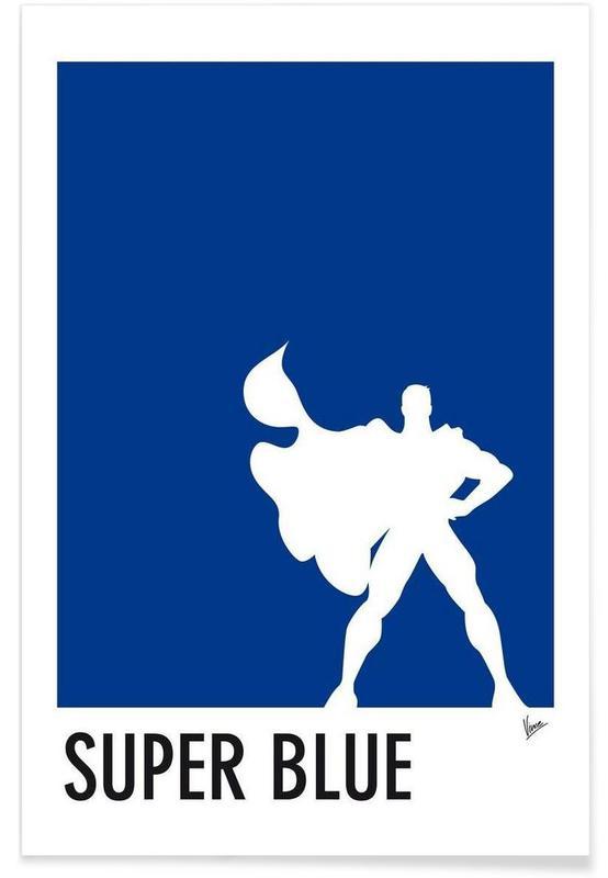 My Superhero 03 SuperBlue Minimal Poster -Poster