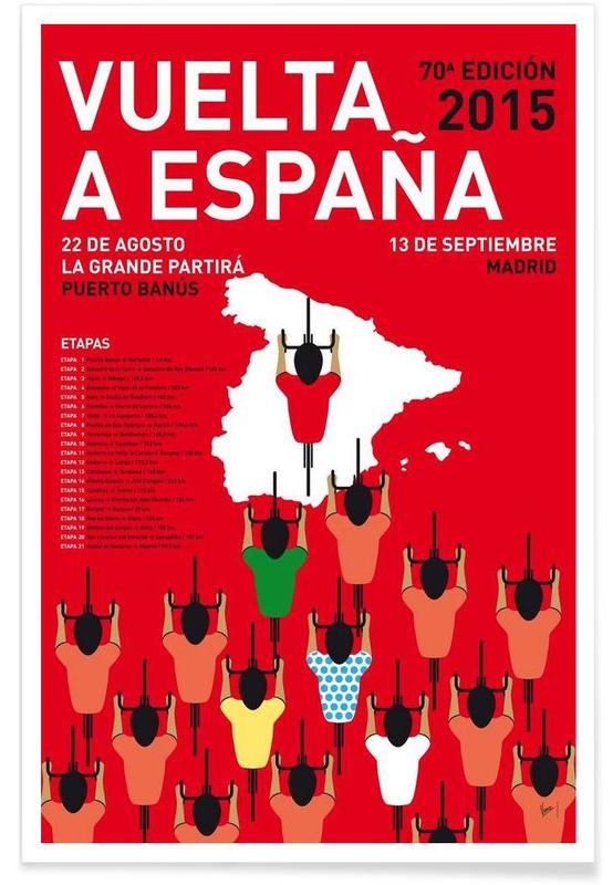 MY VUELTA A ESPANA MINIMAL POSTER 2015 Poster