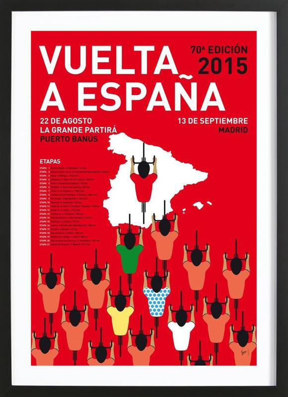 MY VUELTA A ESPANA MINIMAL POSTER 2015 Framed Print