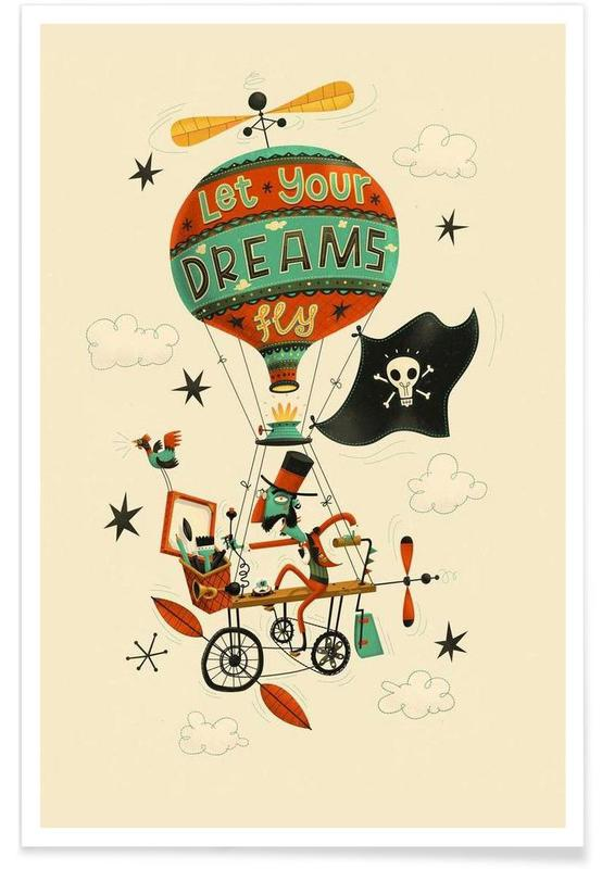 Let your dreams fly poster