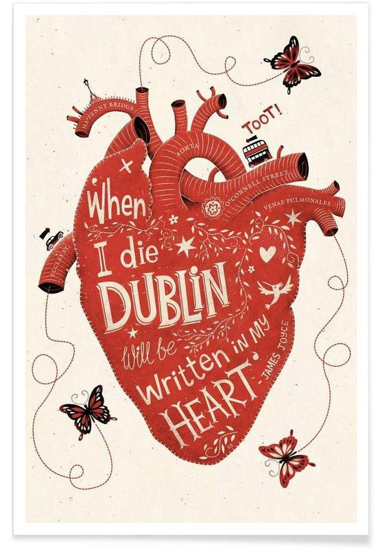 Dublin in my Heart Poster