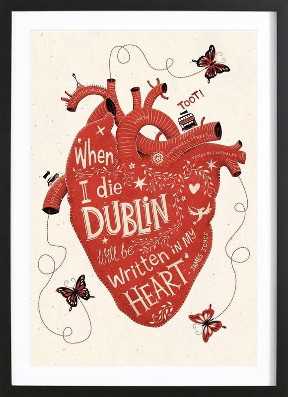 Dublin in my Heart Framed Print