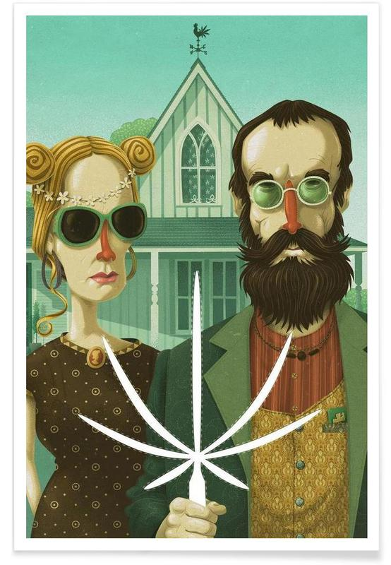 American Gothic High Poster
