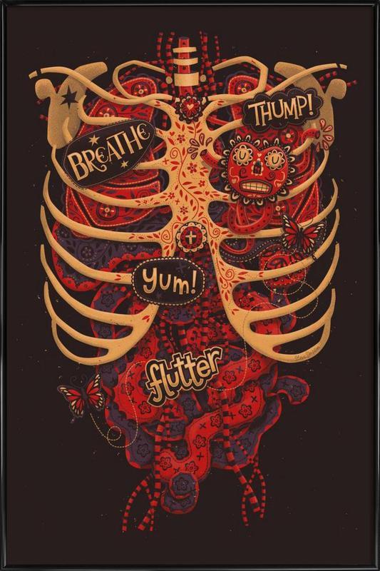 Anatomical Study -Bild mit Kunststoffrahmen