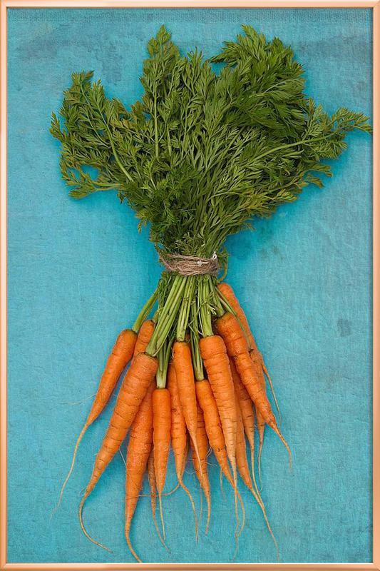 Carrots poster in aluminium lijst