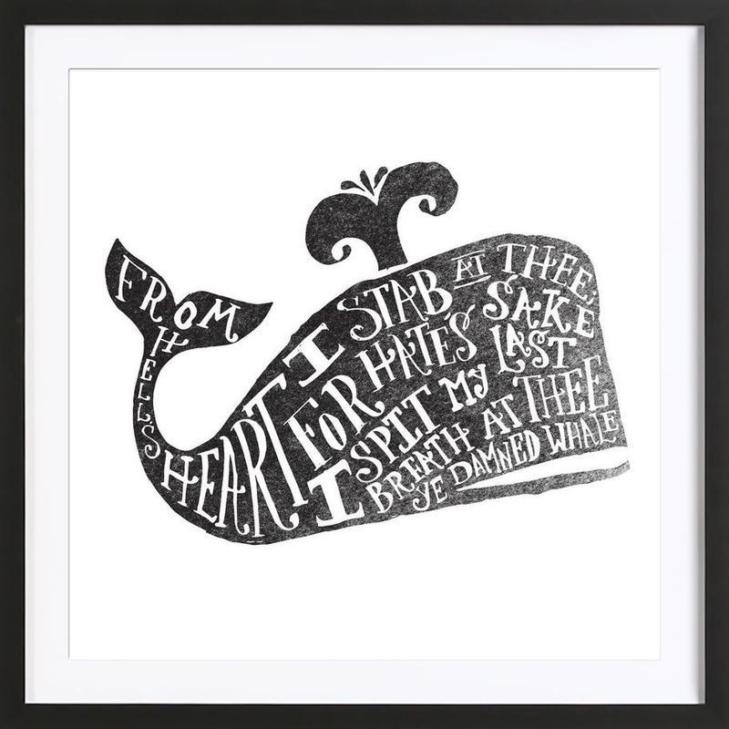 ye damned whale Framed Print
