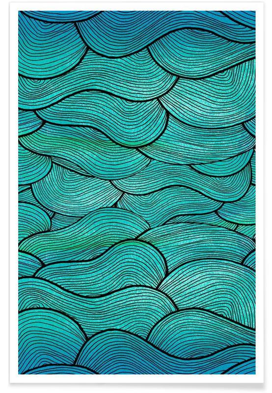 Sea Waves Pattern -Poster