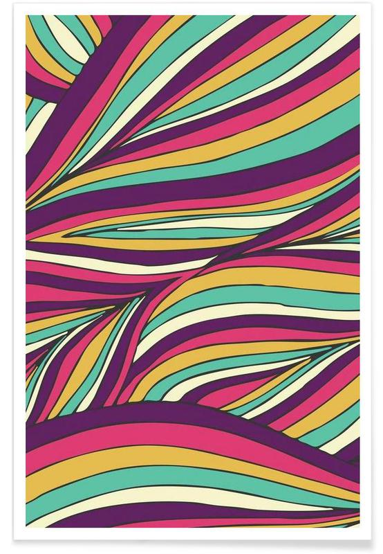 Tropical Leaves Linear Series affiche