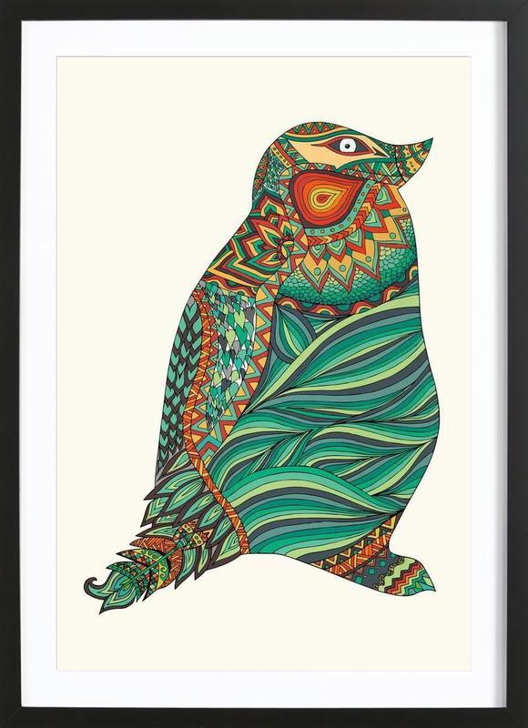 Ethnic Penguin Framed Print