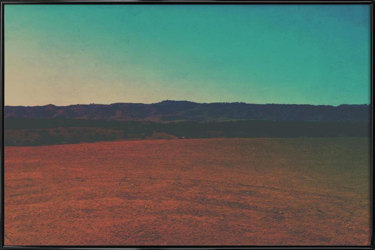 Desert Coffee -Bild mit Kunststoffrahmen