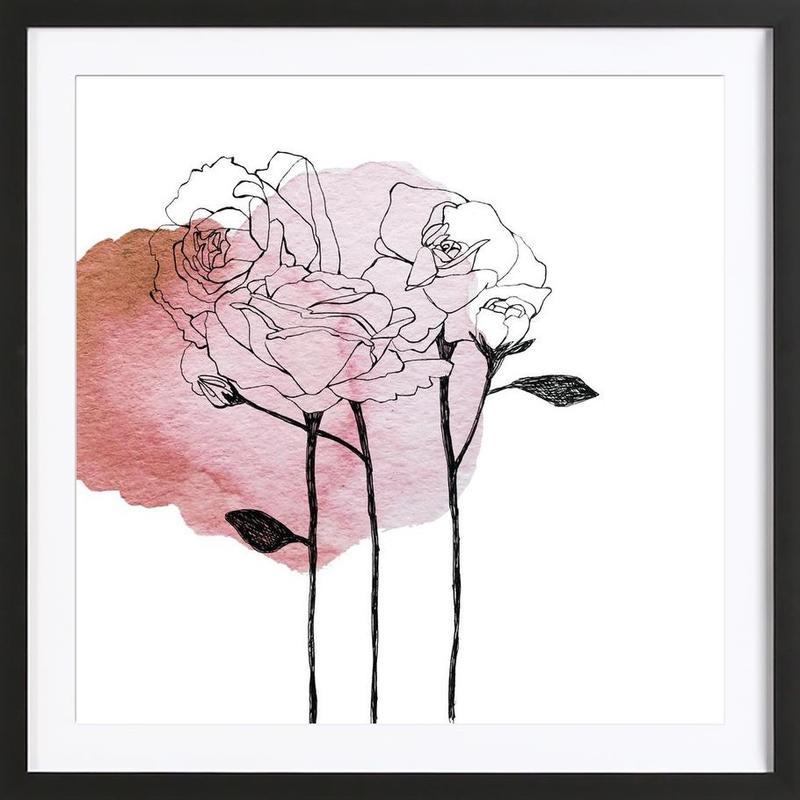 Garden Roses Framed Print