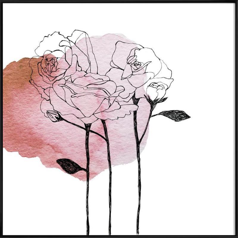 Garden Roses Framed Poster