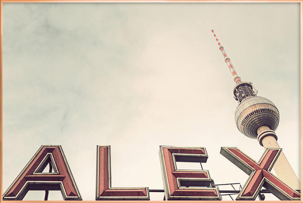 Alex Poster in Aluminium Frame