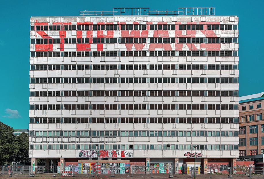 Haus der Statistik Aluminium Print