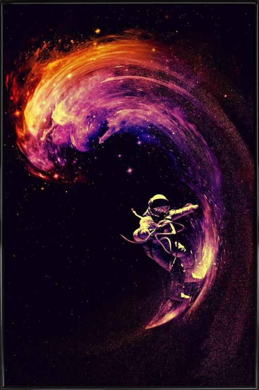 Space Surfing -Bild mit Kunststoffrahmen