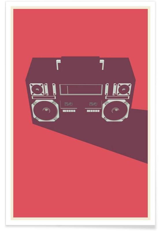Radio Raheem - Minimaliste affiche