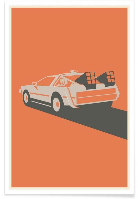 Zurück in die Zukunft – minimalistisch -Poster