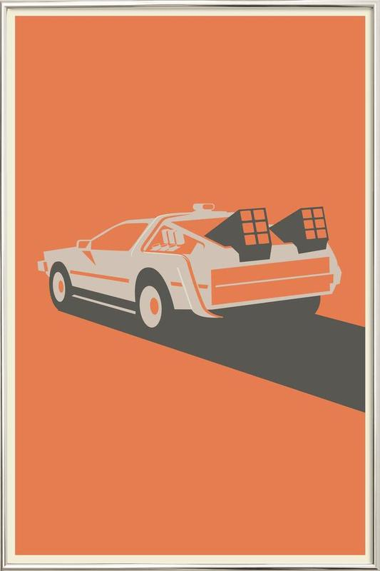 Back to the Future Poster in Aluminium Frame