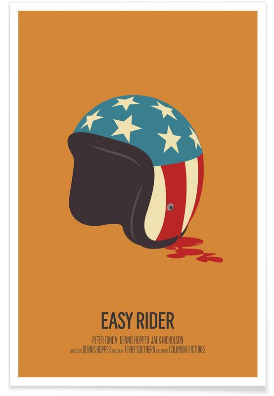 Easy Rider – minimalistisch -Poster