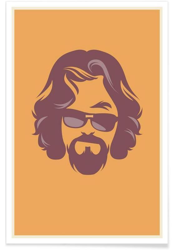 The Dude - minimalistisch poster