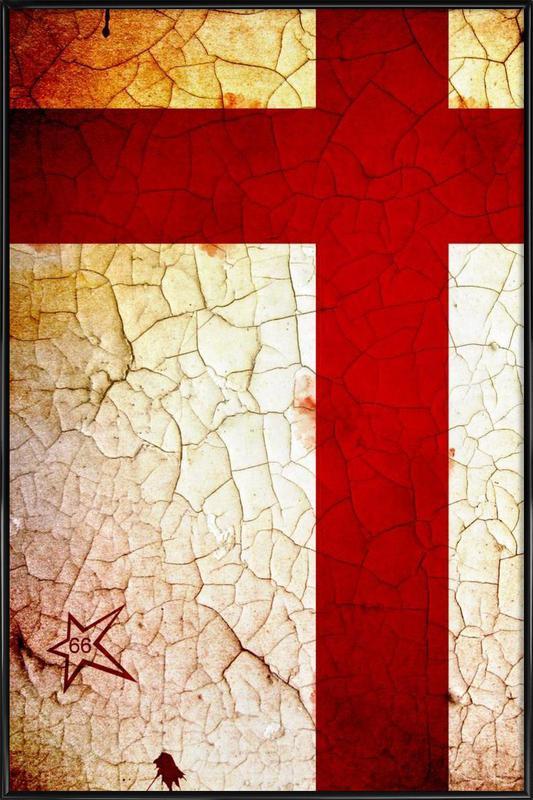 England Framed Poster