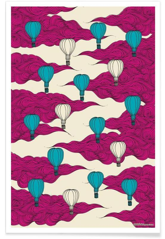 Wrapping Paper Balloons Poster