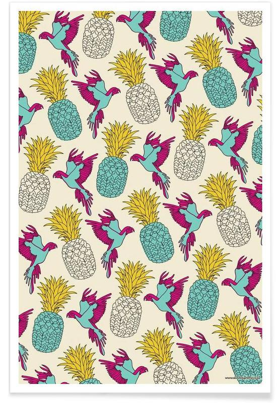 Wrapping Paper Pineapple -Poster